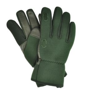 Sporting Lodge Leather and Neoprene Shooting Gloves Green
