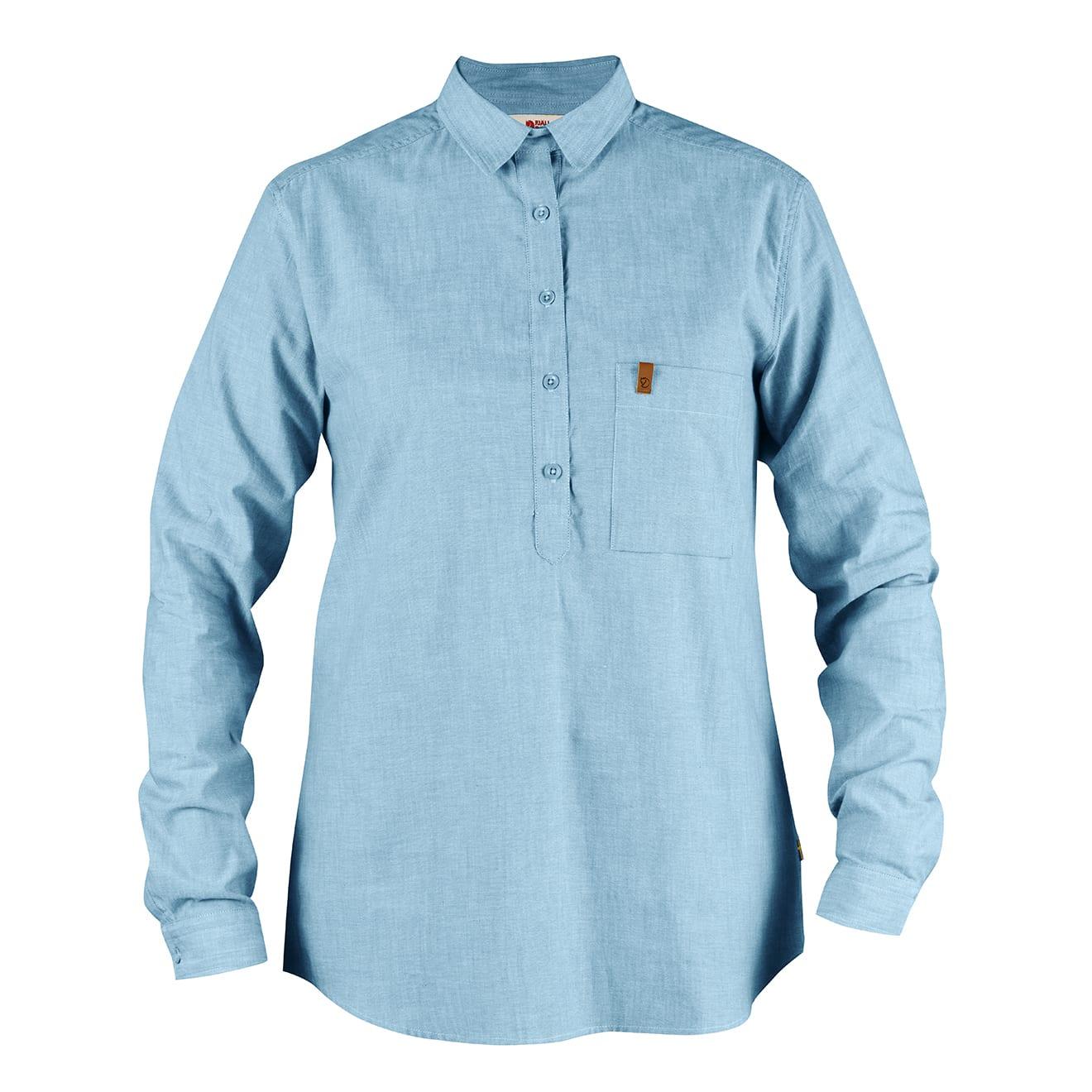 Fjallraven Womens Kiruna LS Shirt Bluebird