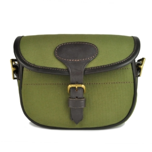 James Purdey Classic Canvas and Leather 100 Cartridge Bag Green