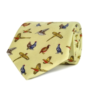 Finest Game Birds Silk Tie