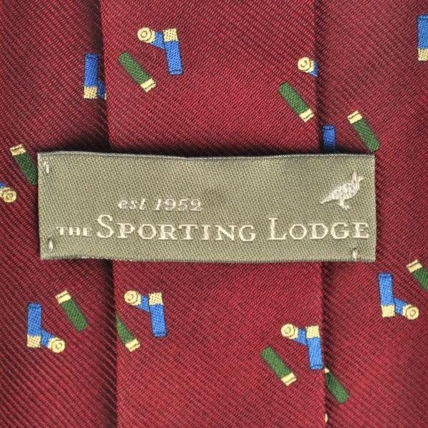 Sporting Lodge Woven Silk Mini Shotgun Cartridges Tie Burgundy