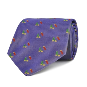Sporting Lodge Woven Silk Mini Shotgun Cartridges Tie Lilac