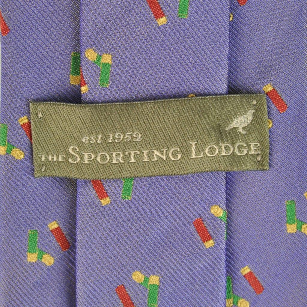 Sporting Lodge Woven Silk Mini Shotgun Cartridges Tie Lilac