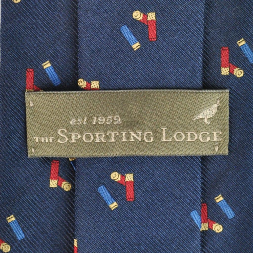 Sporting Lodge Woven Silk Mini Shotgun Cartridges Tie Navy