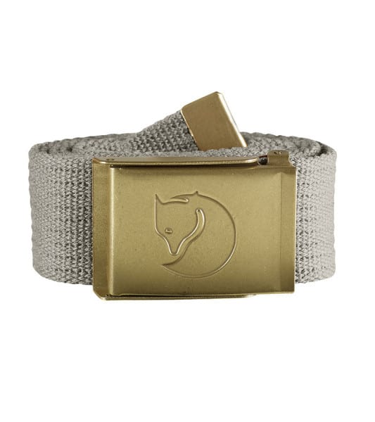 Fjallraven Canvas Brass Belt 4cm Fog