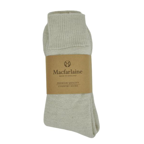 Macfarlaine all Terry Fleck Sock Light Silver