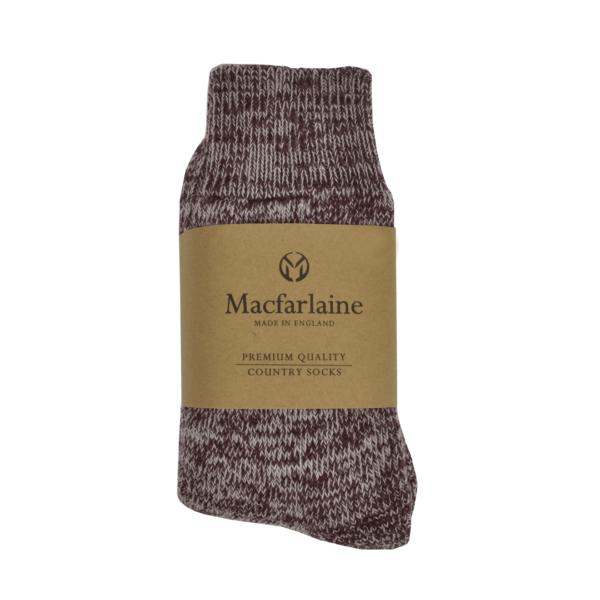 Macfarlaine all Terry Fleck Sock Burgundy