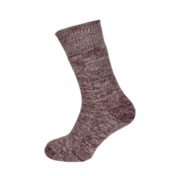 Macfarlaine all Terry Fleck Sock Burgundy