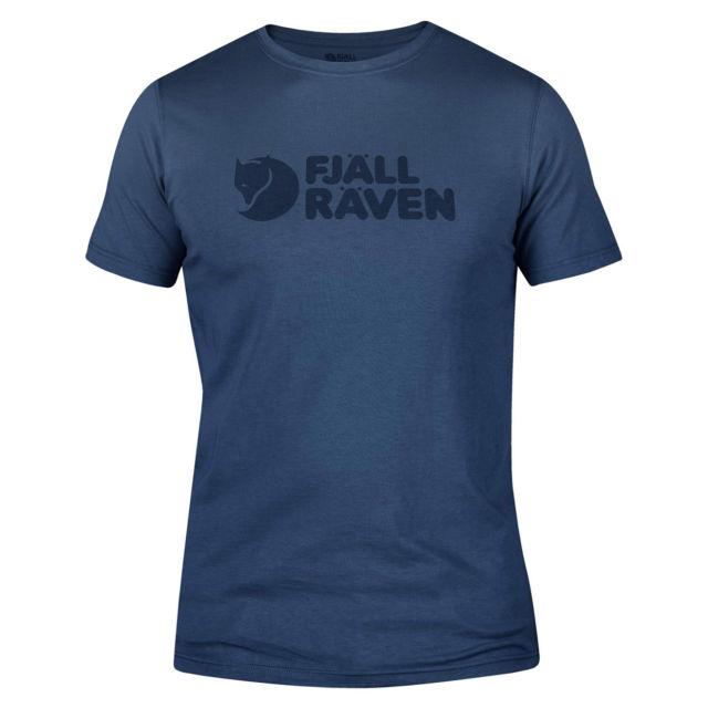 Fjallraven Logo T-Shirt Uncle Blue