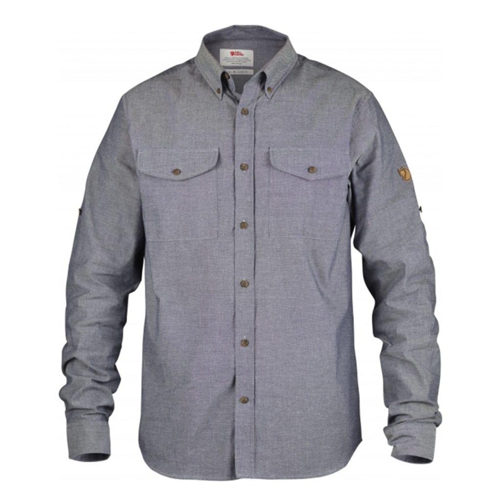 Fjallraven Ovik Chambray Shirt Navy