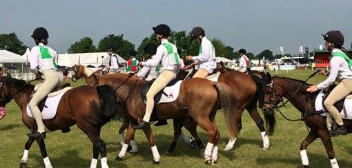 Children Taking Part in Pony Club Games