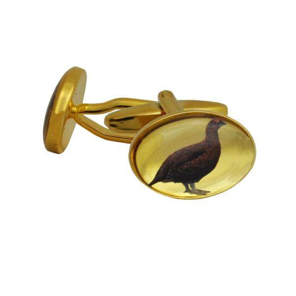 Game Bird Cufflinks in Presentation Box Brown Grouse