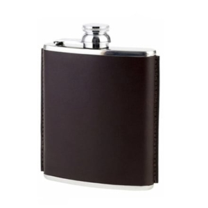 James Purdey Hand Stitched 6oz Leather Flask