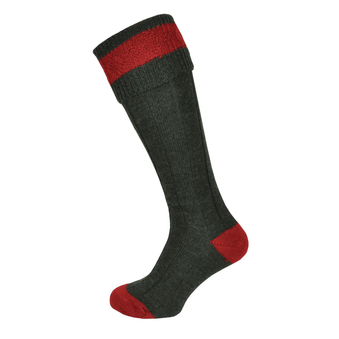 Macfarlaine Contrast Shooting Socks Green / Red