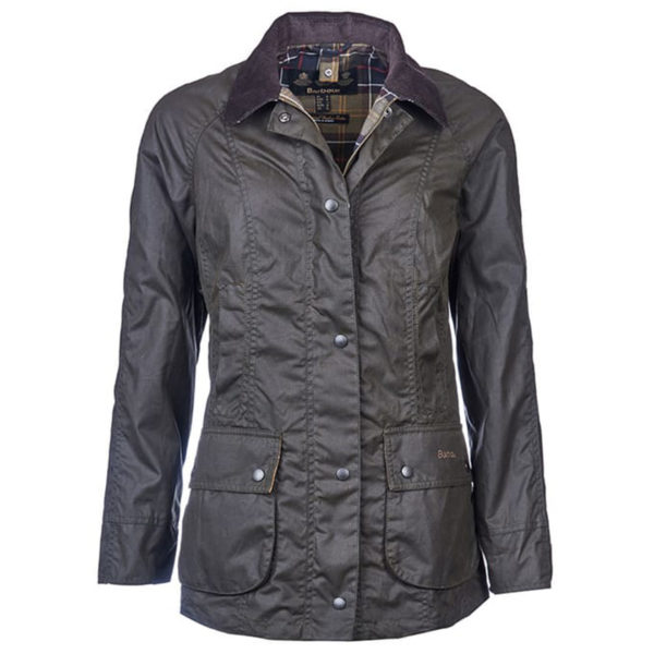 Barbour Womens Classic Beadnell Wax Jacket Olive