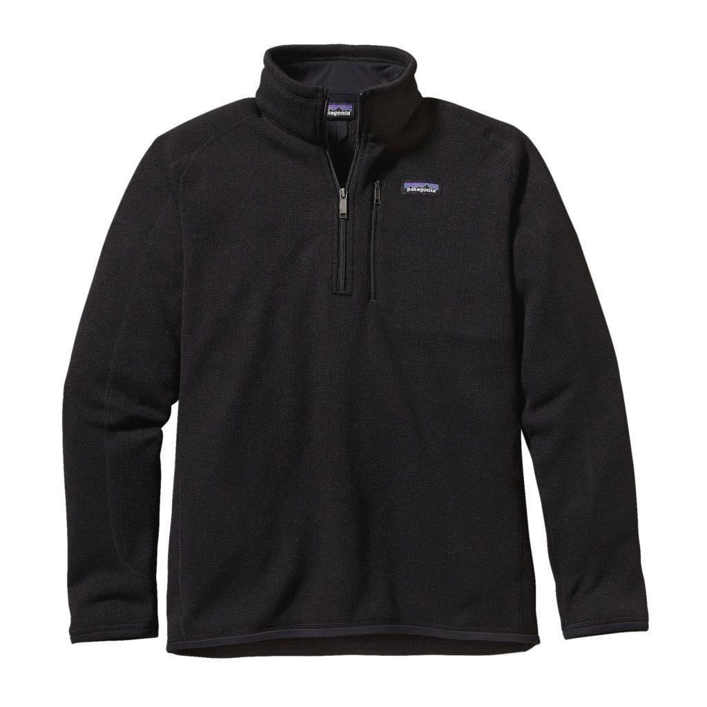 Patagonia Mens Better Sweater Quarter Zip Black
