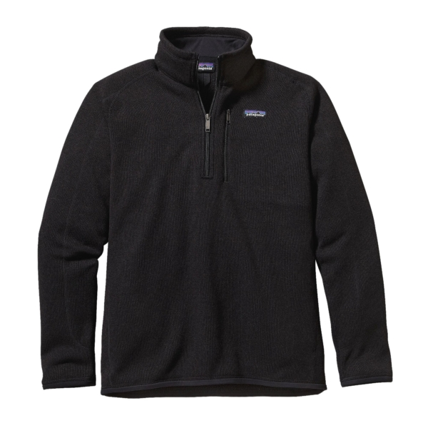 Patagonia Mens Better Sweater Quarter Zip Black