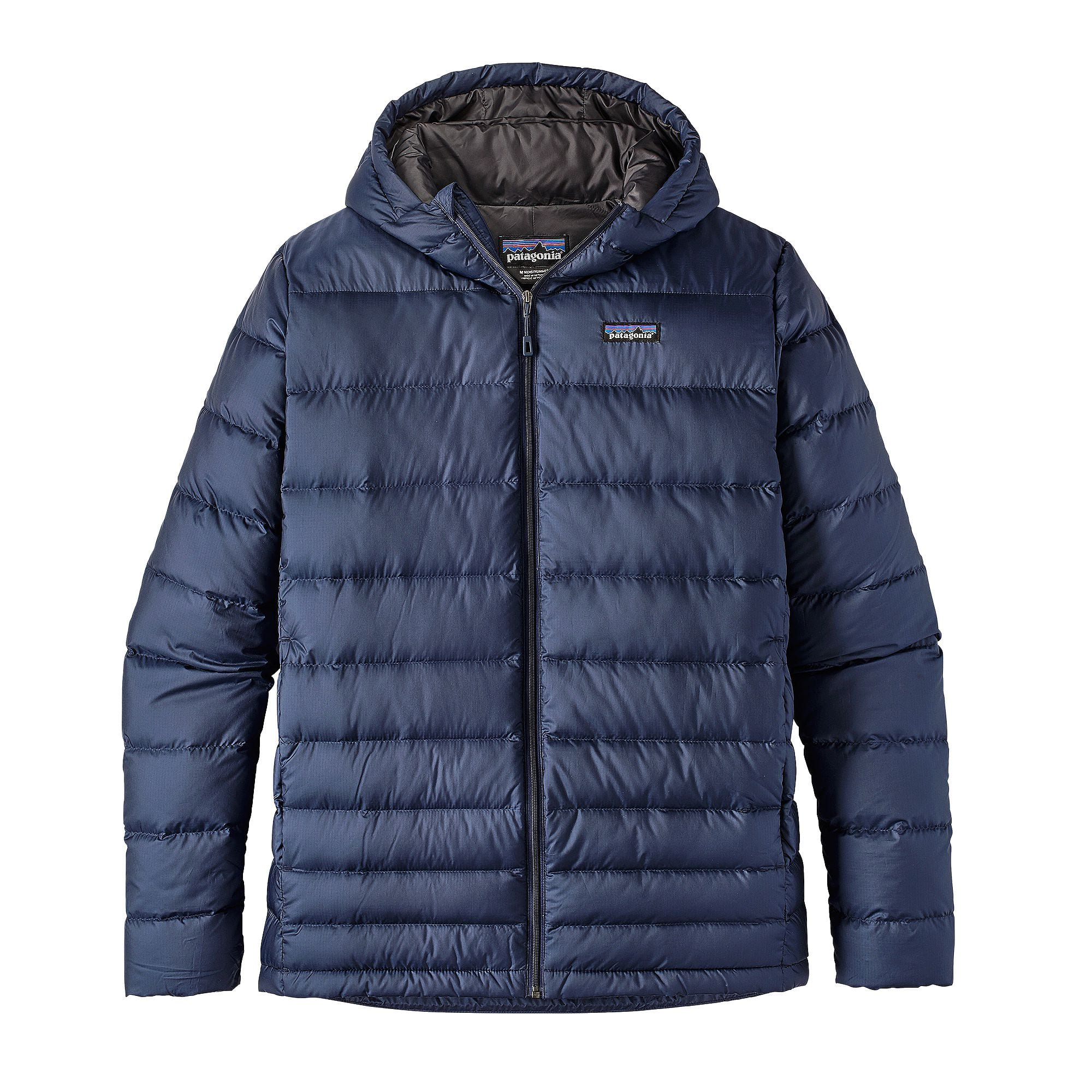 Patagonia Mens Hi Loft Down Hoody Jacket Navy Blue The