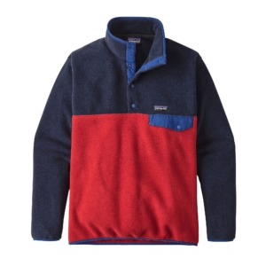 Patagonia Mens Lightweight Synchilla Snap Pullover Fleece Classic Red