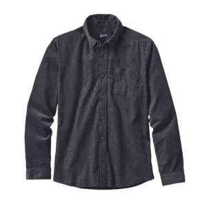 Patagonia Mens Long Sleeved Bluffside Cord Shirt Forge Grey