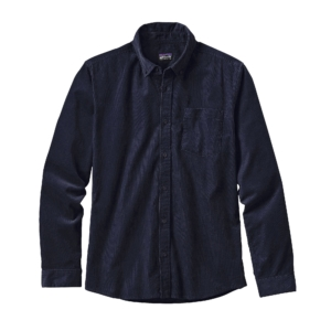 Patagonia Mens Long Sleeved Bluffside Cord Shirt Navy Blue