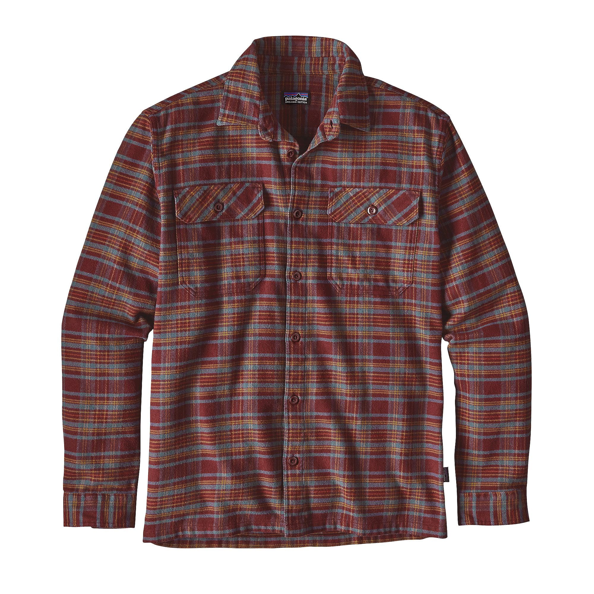 Patagonia mens long sleeve fjord flannel shirt the for Types of flannel shirts