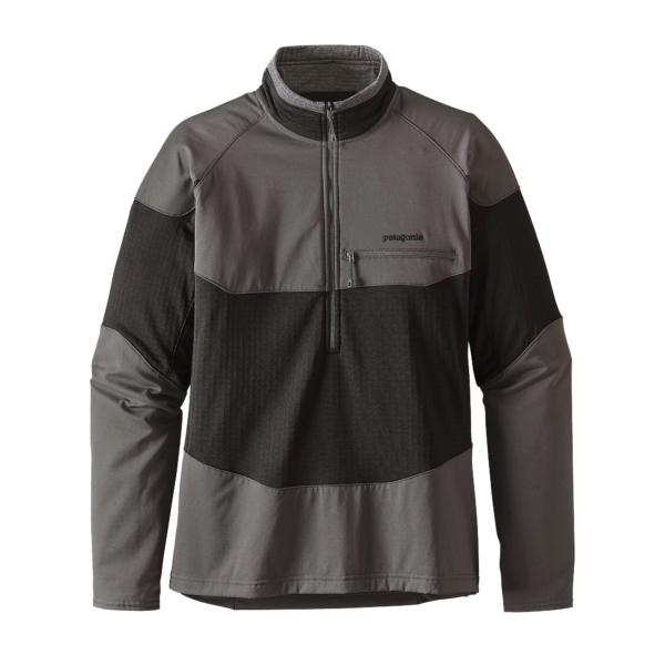Patagonia Mens R1 Field Quarter Zip Sweat Black