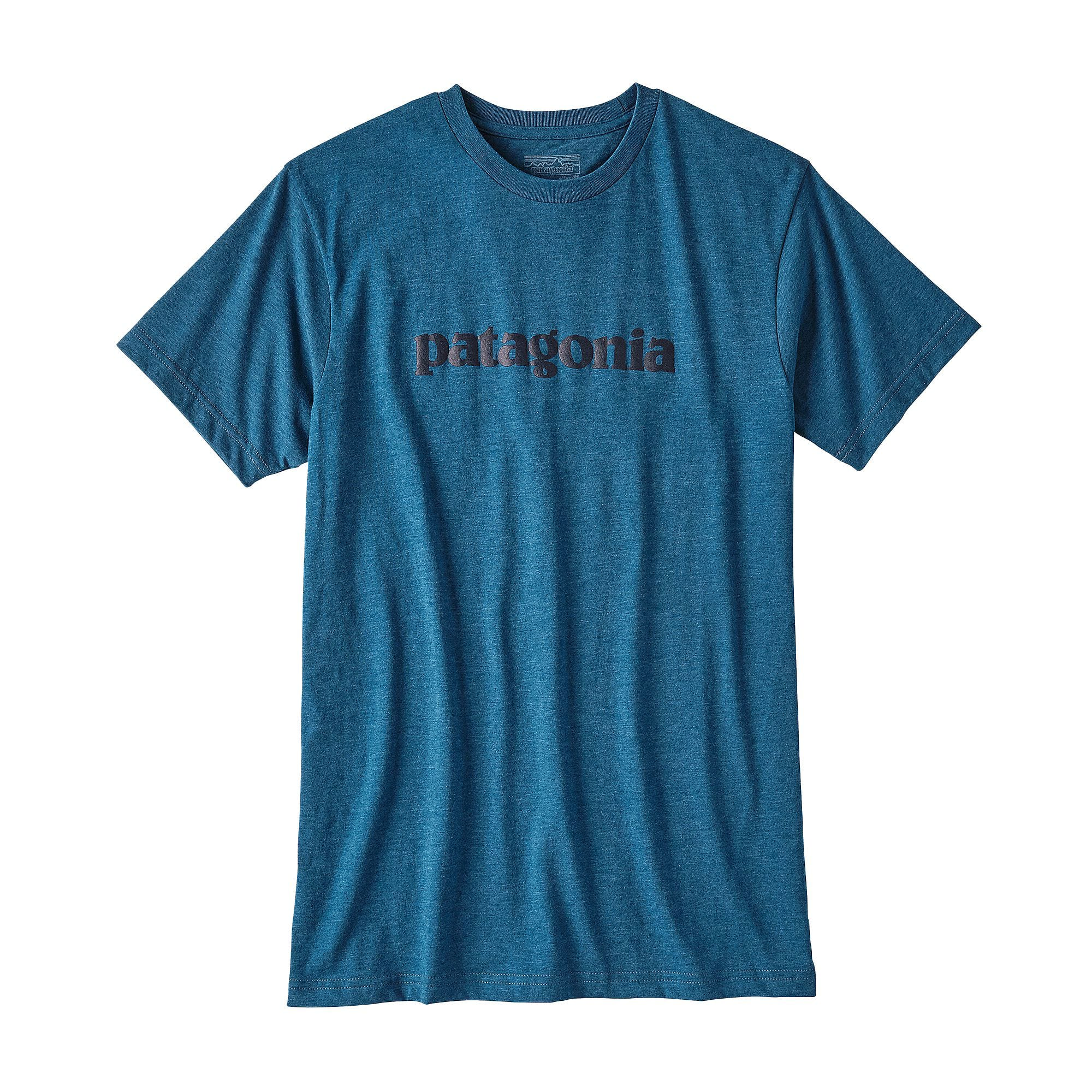 patagonia mens text logo cotton poly t shirt the sporting lodge. Black Bedroom Furniture Sets. Home Design Ideas