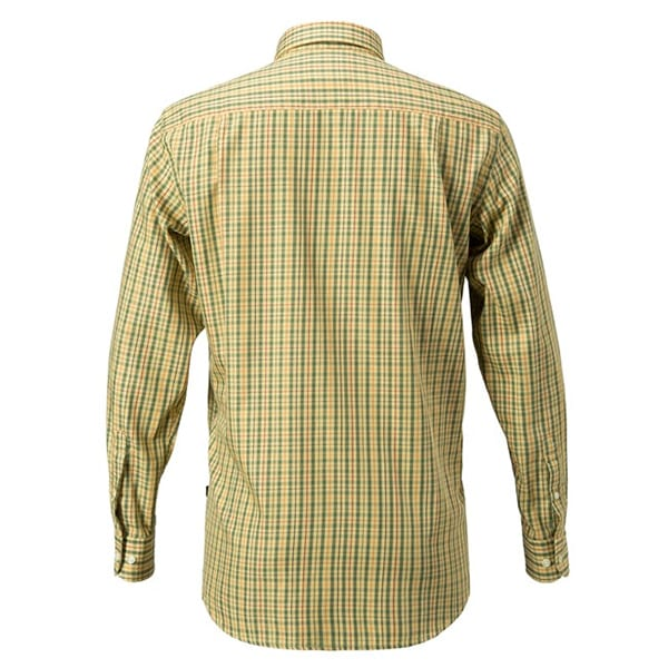 Beretta Drip Dry Shirt Yellow & Brown Check