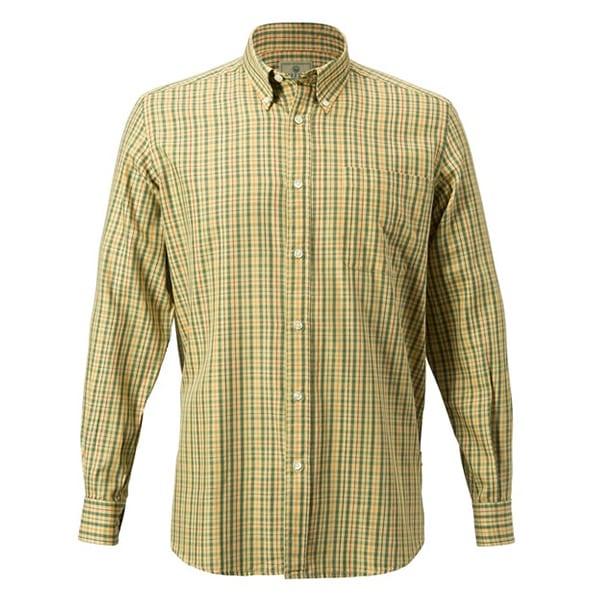 Beretta Drip Dry Shirt Yellow & Brown Check