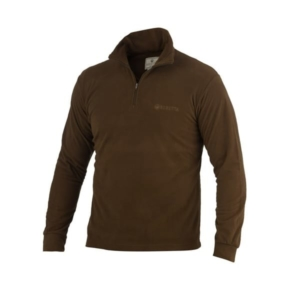 Beretta Light Polar Fleece Half Zip Brown
