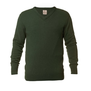 Beretta Classic V-Neck Lambswool Pullover Green