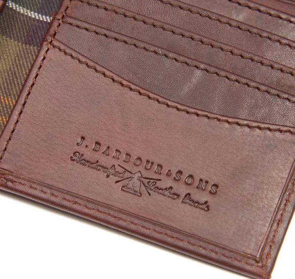Barbour Drywax Billfold Wallet Olive