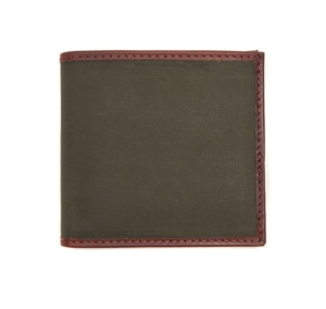 Barbour Drywax Billfold Wallet Olive