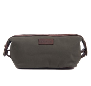 Barbour Drywax Convertible Washbag Olive