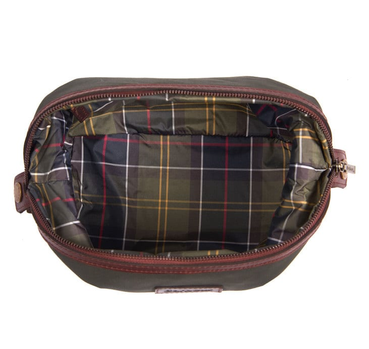 39f24b1d65 Barbour Drywax Convertible Washbag Olive - The Sporting Lodge