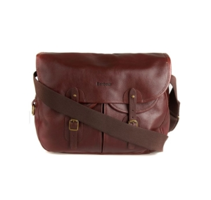 Barbour Leather Tarras Bag Dark Brown
