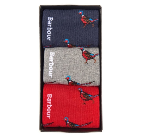 Barbour Pheasant 3 Pack Socks