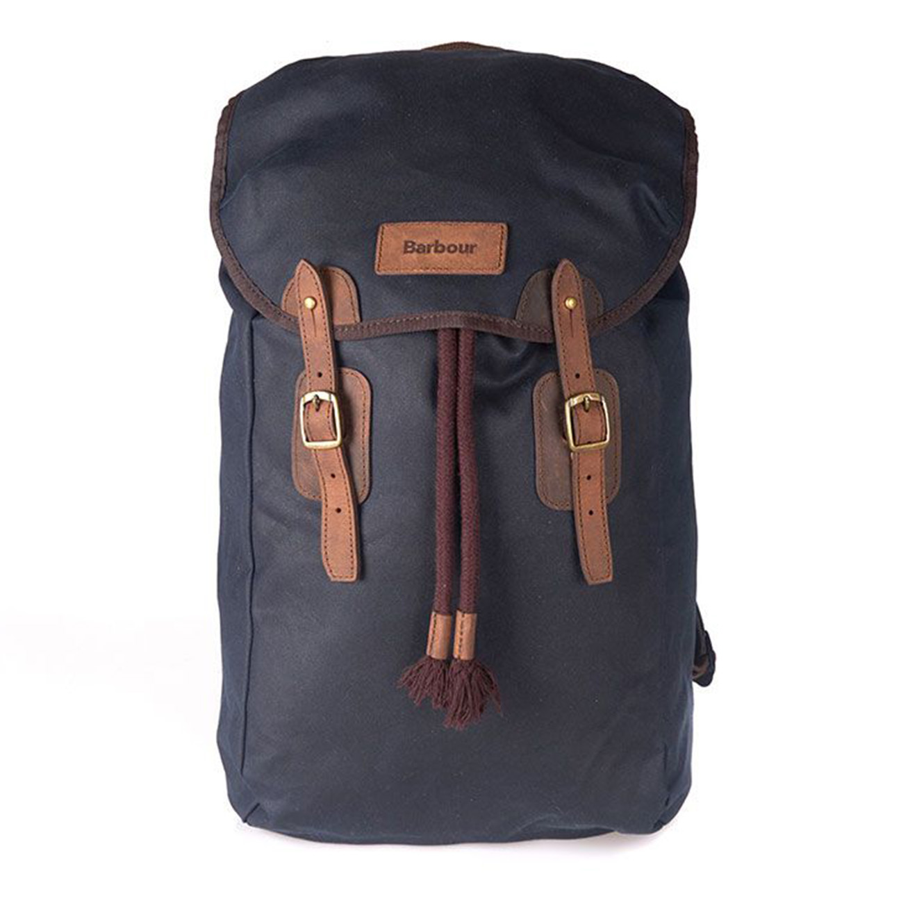 Barbour Wax Leather Backpack Navy The Sporting Lodge