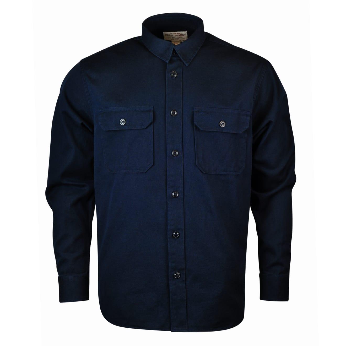 Filson 6oz Drill Chino Shirt Storm Navy