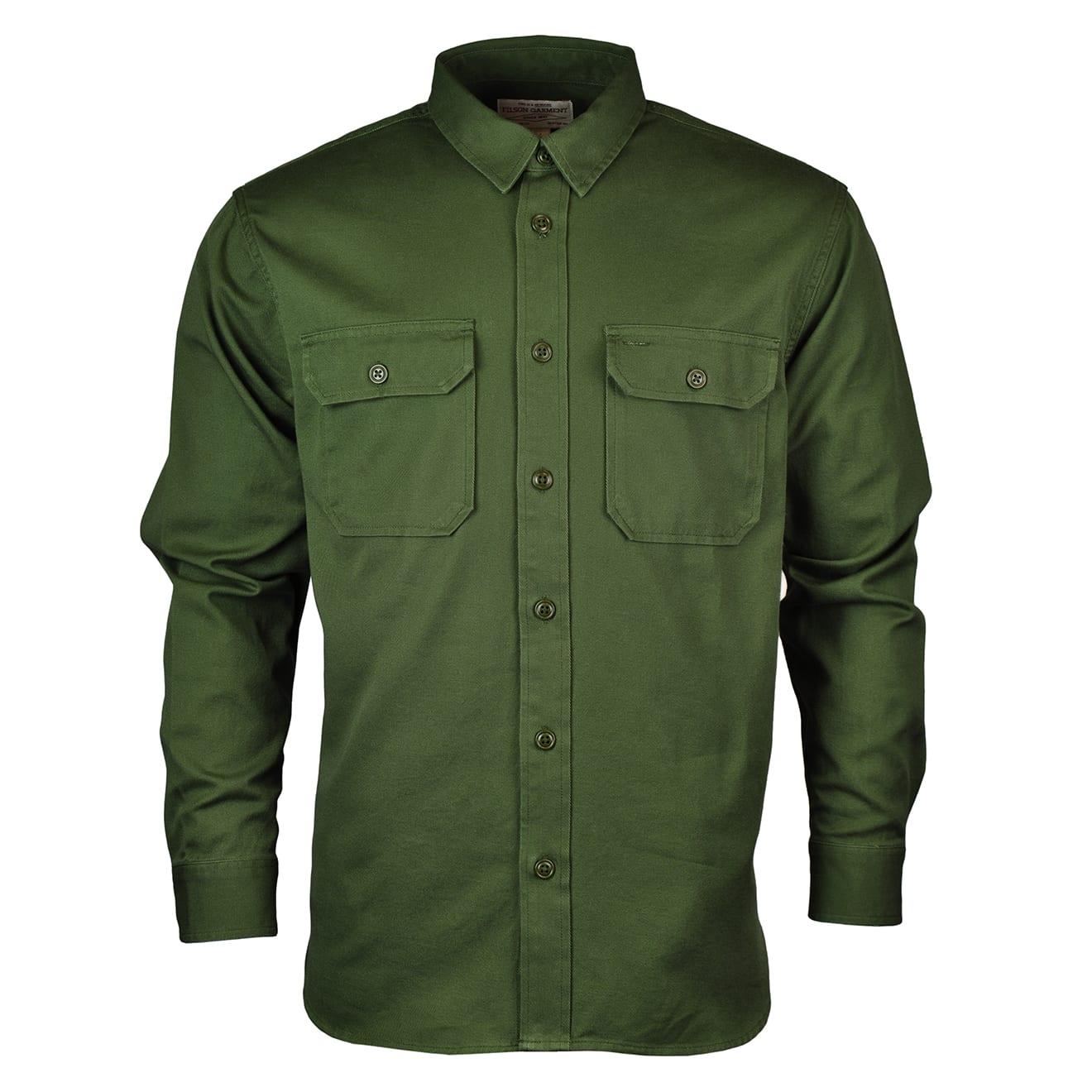 Filson 6oz Drill Chino Shirt Olive
