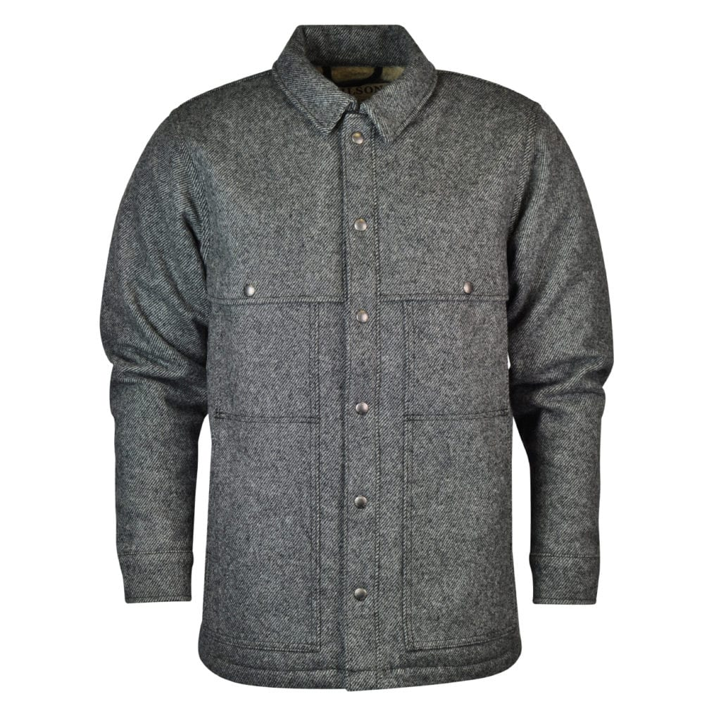 Filson Lined Wool Cape Coat Grey