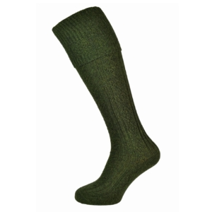 Barbour tweed gun socks olive tweed