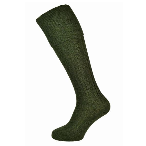 Barbour tweed gun socks olive tweed