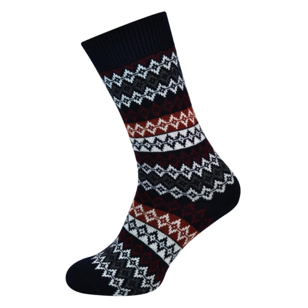 arbour duxbury fairsle socks navy