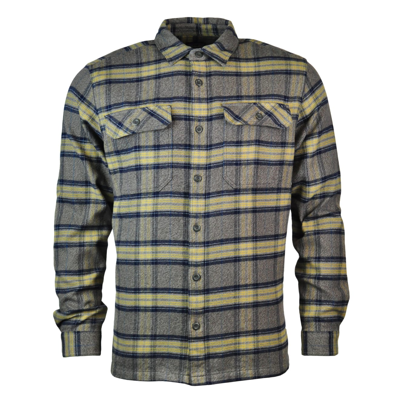 Patagonia Mens Long Sleeve Fjord Flannel Shirt Forge Grey