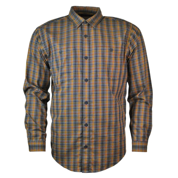 Patagonia Mens Long Sleeve Pima Cotton Shirt Smoulder Blue