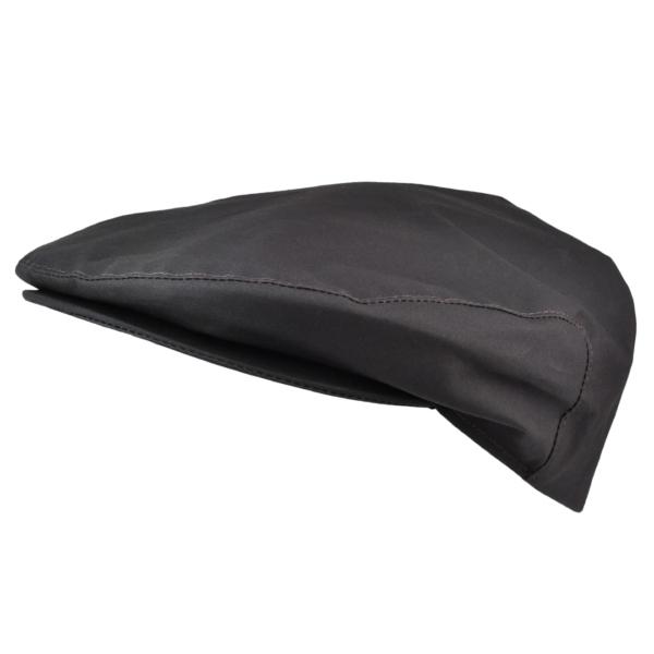James Purdey Short Peak Wax Dry Waterproof Cap Dark Brown