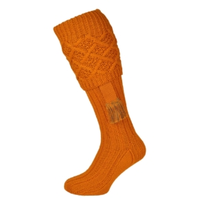 James Purdey Cable Top Shooting Socks With Garters