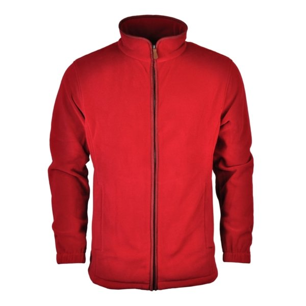 James Purdey Lightweight Fleece Jacket Audley Red